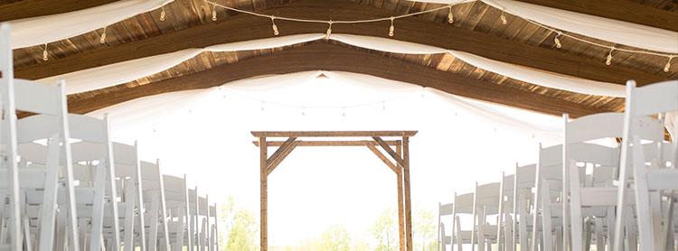Rustic Wedding Lighting & Drape